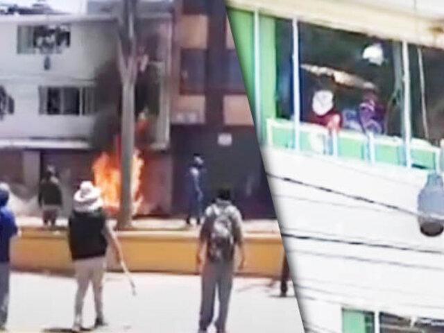 Sujetos se atrincheraron para evitar desalojo de un Nigth Club en Tacna