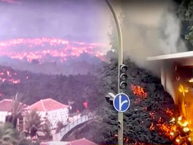 Volcán Cumbre Vieja: lava llega a nueva zona residencial y genera más evacuaciones