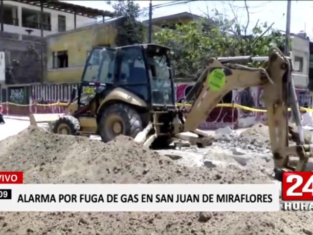 SJM: fuga de gas durante obra causó pánico entre vecinos