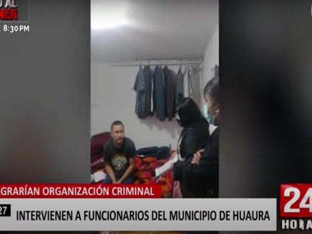 Huacho: intervienen a funcionarios de la Municipalidad de Huaura