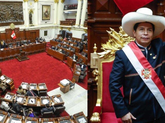Congreso concede permiso al presidente Pedro Castillo para viajar a Bolivia