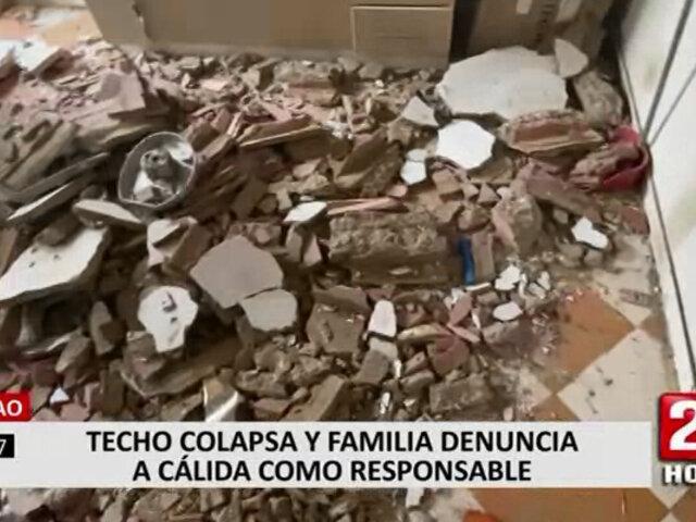 Callao: techo de vivienda colapsó y familia responsabilizó a la obra de Calidda