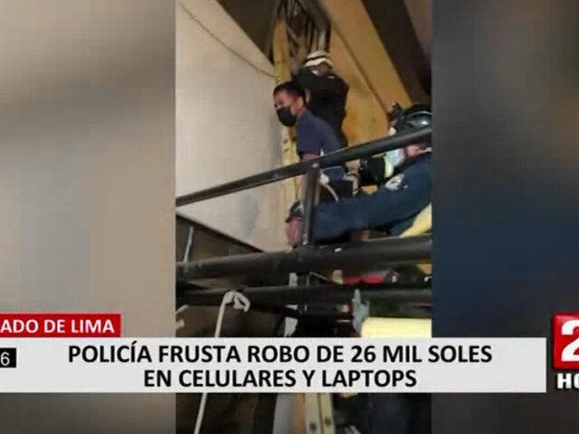 Cercado de Lima: policía y serenos frustraron robo en tienda de celulares