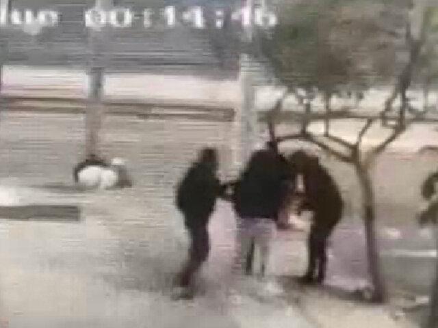 Miraflores: tres delincuentes acorralaron a joven para robarle sus pertenencias