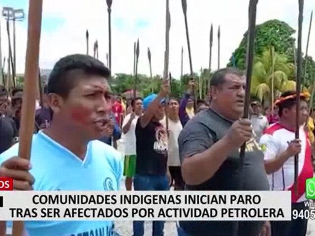 Iquitos: comunidades indígenas iniciaron paro tras ser afectados por la actividad petrolera