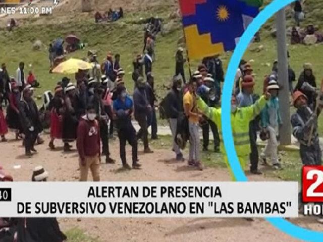 "Presencia de subversivo venezolano en ""Las Bambas"" alerta al país"