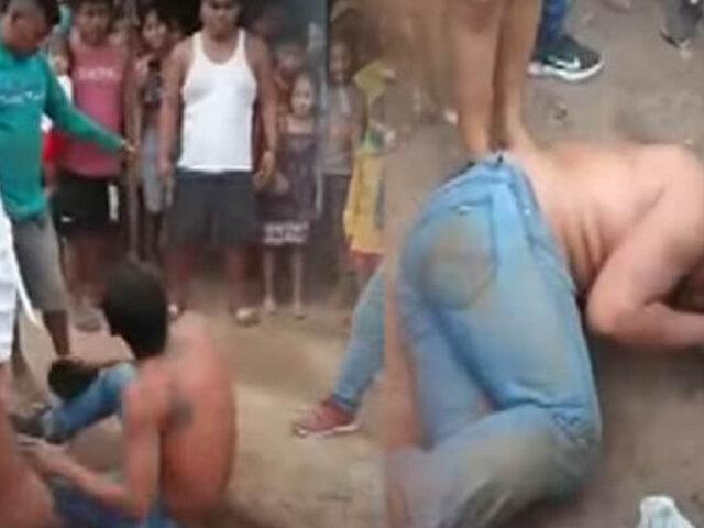 Vecinos casi linchan a dos ladrones en Pucallpa