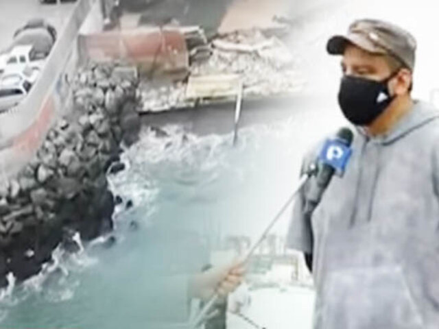 "Callao: ""Mar Brava"" gana terreno y daña estructuras en Chucuito"