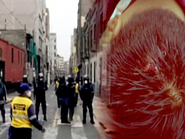 Mesa redonda: inician desalojo contra ambulantes que lotizaban calle