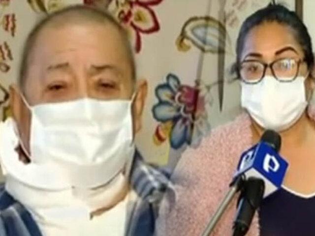 Anciano con cáncer denuncia que su hija lo quiere desalojar de su vivienda en el Rímac