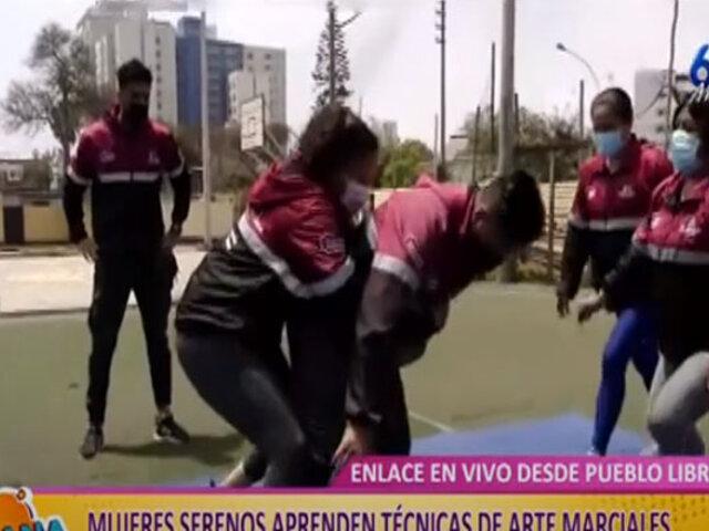 Pueblo Libre: mujeres serenos aprenden técnicas de artes marciales para enfrentar delincuentes