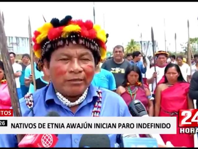 Loreto: nativos awajún advierten que no saldrá una sola gota de petróleo si no atienden sus reclamos