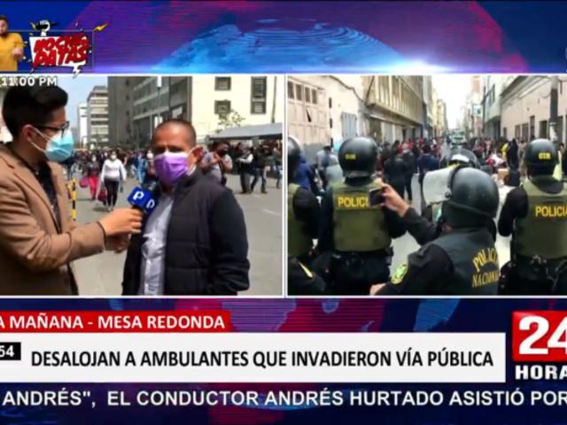 Mesa Redonda: ambulantes intentar retomar las calles