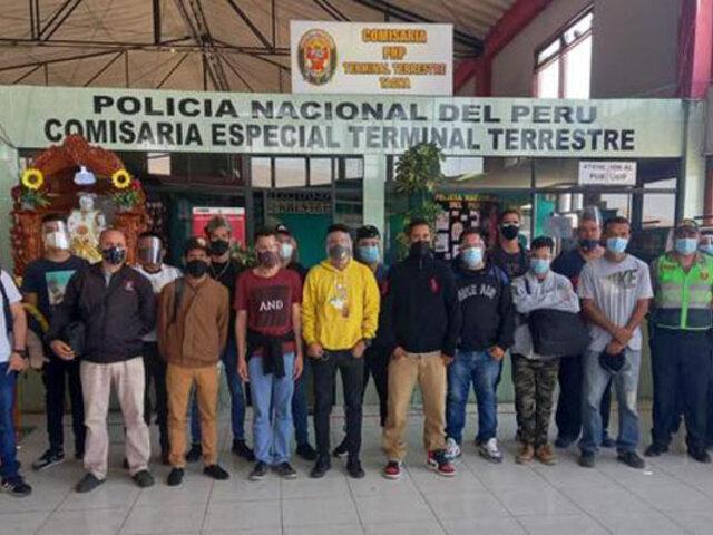 Tacna: intervienen a 25 extranjeros que viajaban sin tener sus documentos regla