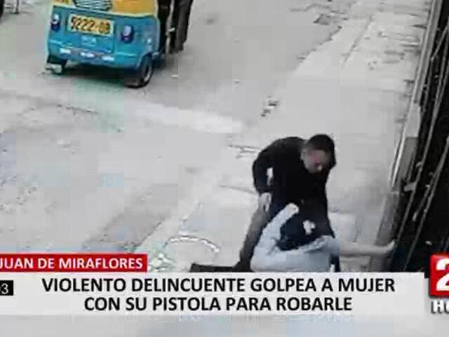 SJM: delincuentes golpean en la cabeza a mujer que se resistió al robo de su celular