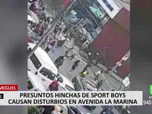 San Miguel: barristas del Sport Boys desatan balacera en avenida La Marina