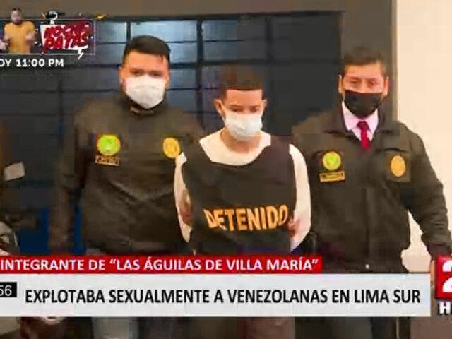 VMT: capturan delincuente que era parte de mafia de proxenetas de jóvenes extranjeras