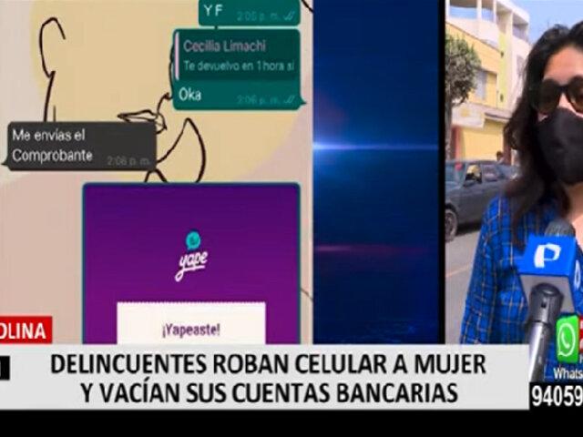 La Molina: roban celular a joven, piden dinero a sus contactos y vacían sus cuentas bancarias