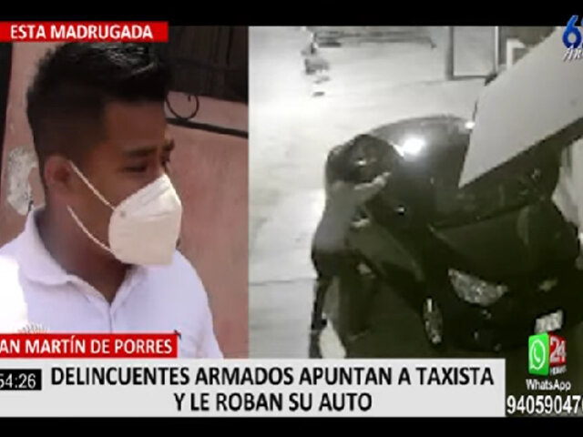 SMP: delincuentes armados apuntaron a taxista y le robaron su vehículo