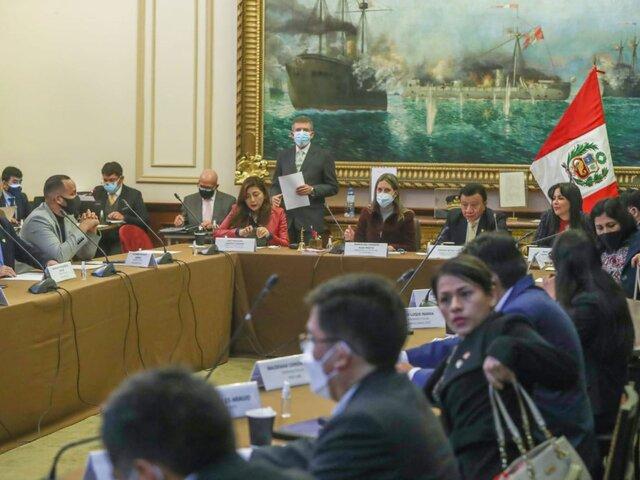 Congreso: Junta de Portavoces sesionará este lunes 25 de octubre