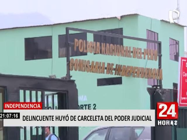 Sujeto que robó car wash y tenía prisión preventiva fugó de carceleta de Lima Norte