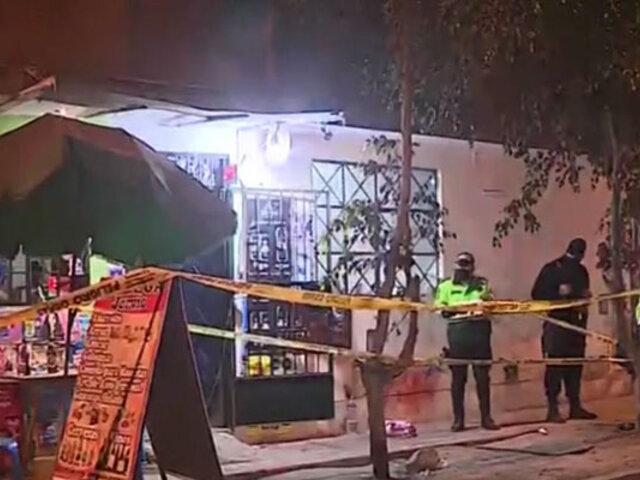 El Agustino: un hombre y un menor de edad fueron baleados dentro de una bodega