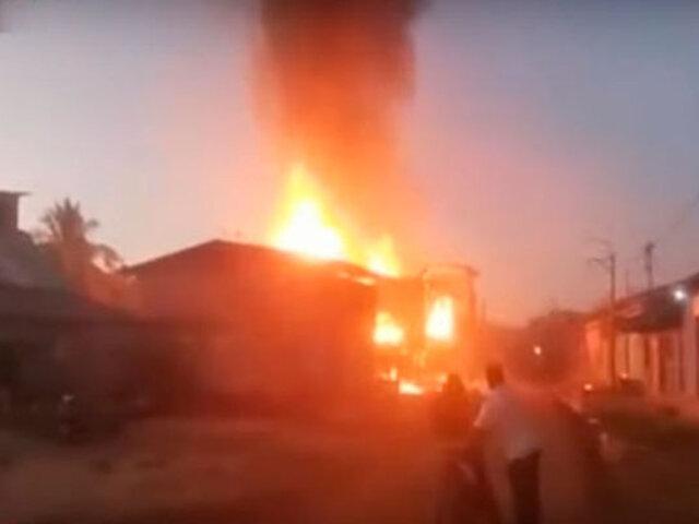 Al menos dos muertos, cinco desaparecidos y diez viviendas calcinadas deja incendio en Iquitos