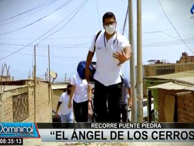 """Puente Piedra: """"El Ángel de los Cerros"""" llevó atención médica gratuita a vecinos"""