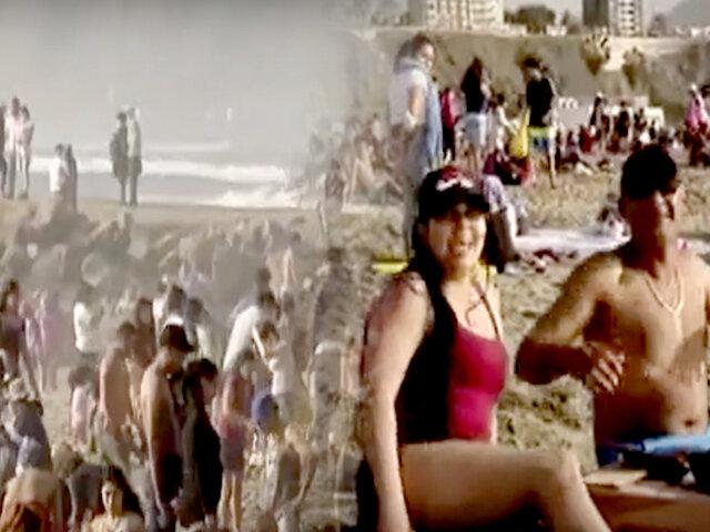 Chorrillos: playa Agua Dulce se llena de gente sin protocolos sanitarios
