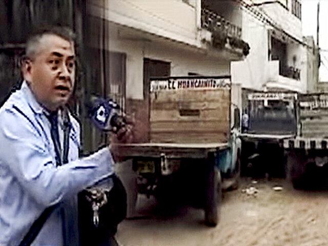 Collique: culpan a dueño de ferretería de invadir la vía pública
