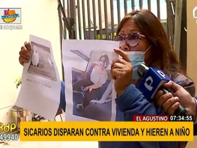 El Agustino: sicarios disparan contra vivienda y hieren a niño