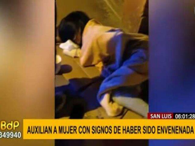 San Luis: mujer aparentemente envenenada fue auxiliada por vecinos