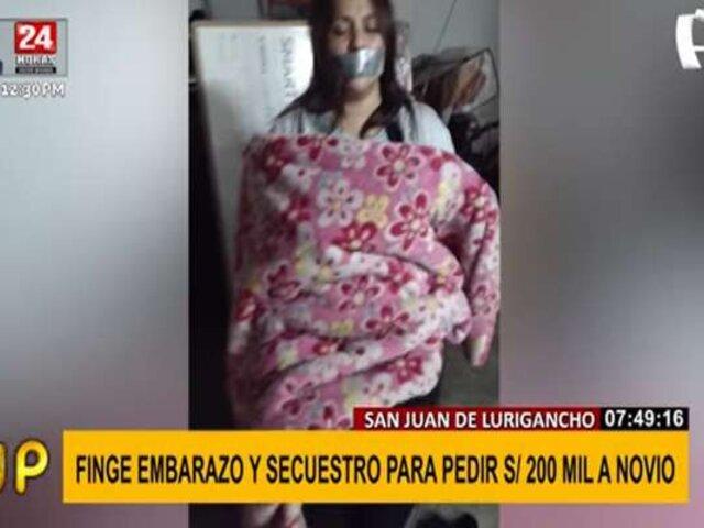 SJL: mujer fingió embarazo y secuestro para pedir S/ 200 mil a su esposo