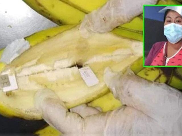 Penal de Arequipa: mujer trató de ingresar 40 chips de celular escondidos  en plátanos
