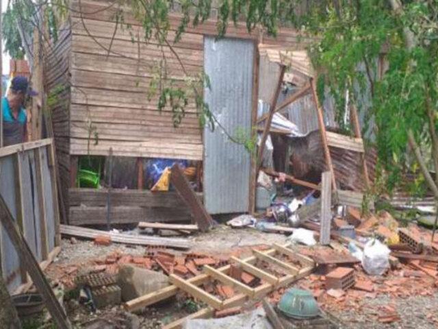 Fuertes vientos arrancan techos, derrumban casas y dejan varios heridos en Madre de Dios