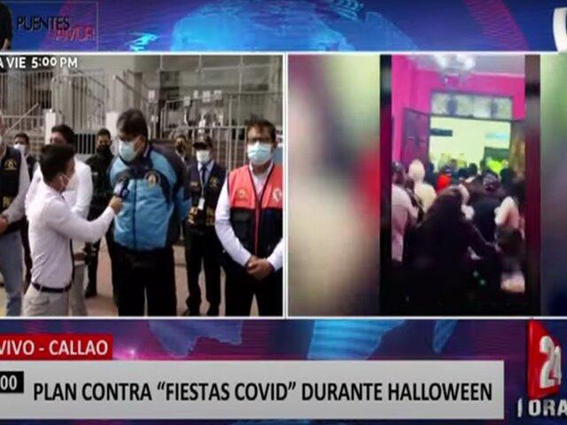 """Callao: Municipalidad presenta plan para evitar """"fiestas covid"""" por Halloween"""