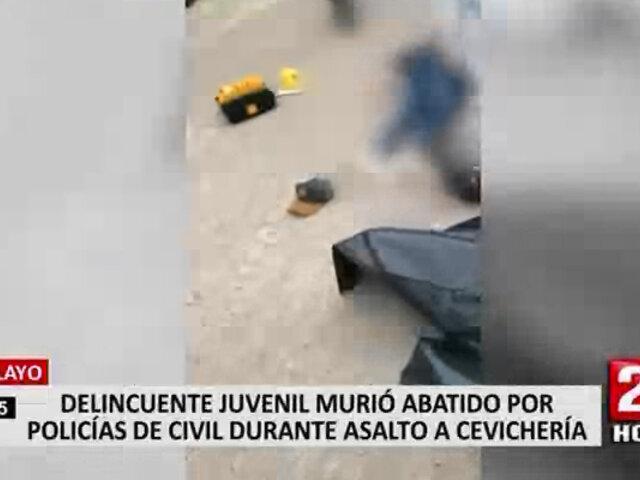 Chiclayo: delincuente terminó abatido tras asaltar un restaurante