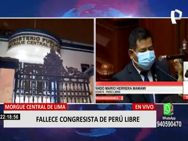 Restos de Fernando Herrera fueron trasladados a Morgue de Lima