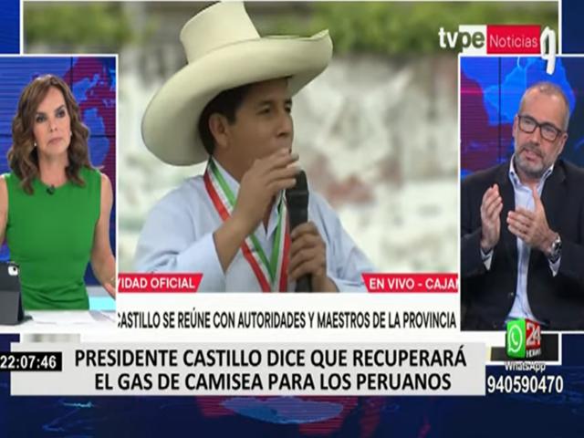 """Iván Slocovich sobre Pedro Castillo: """"No se ve un rumbo claro hacia dónde va el Gobierno"""""""
