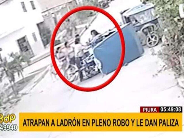 Piura: vecinos capturan y golpean a delincuente que asaltó a una pareja