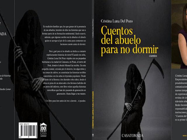 """Escritora peruana Cristina Luna presenta libro para niños """"Cuentos del abuelo para no dormir"""""""