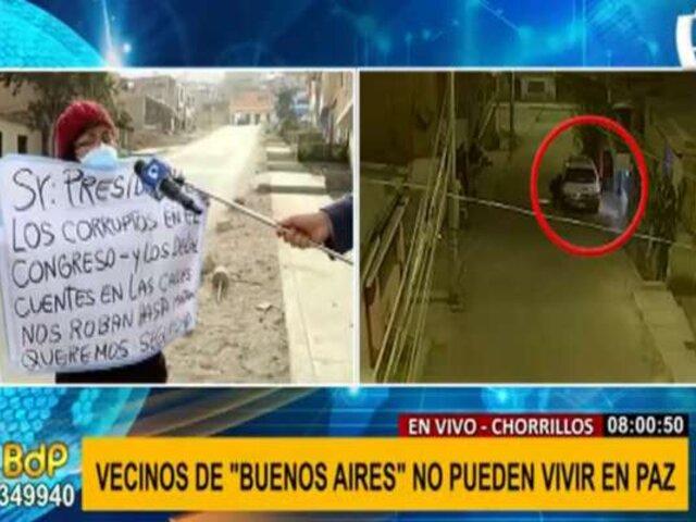Chorrillos: vecinos denuncian ola de asaltos