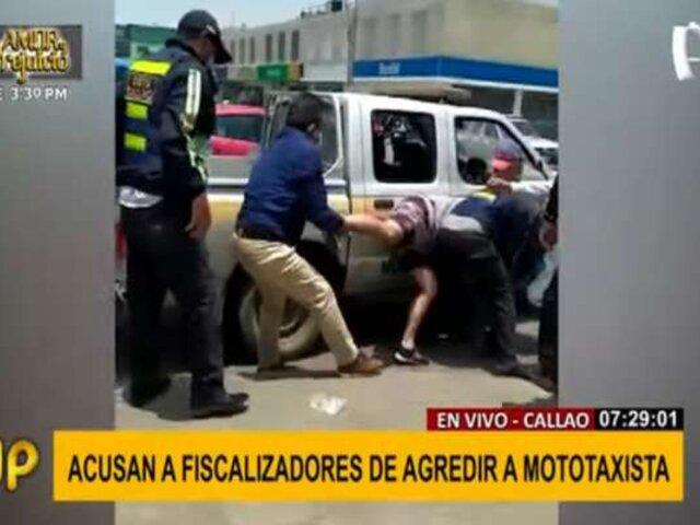 Callao:  fiscalizadores son acusados de agredir a mototaxista