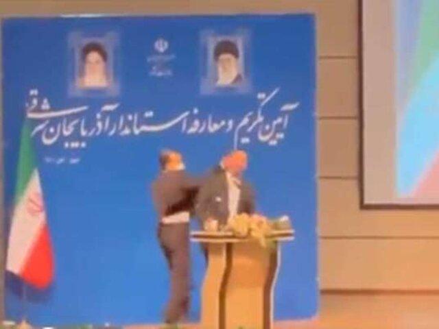 Irán: Gobernador es abofeteado durante su toma de posesión del cargo