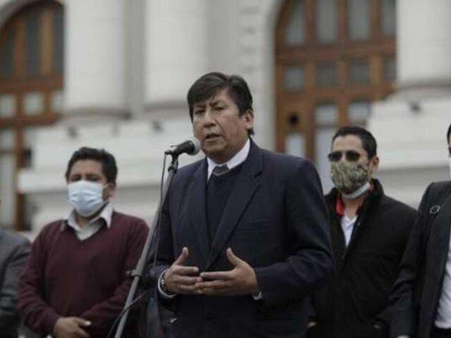 Waldemar Cerrón se refirió al cambio de Constitución durante homenaje póstumo a Fernando Herrera
