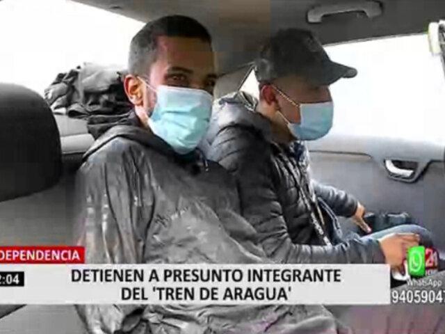 "Independencia: PNP detuvo a sujeto que pertenecería a la banda criminal ""El Tren de Aragua"""