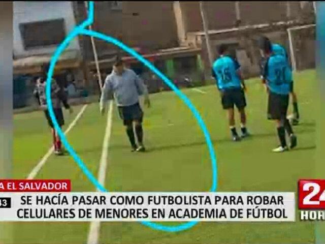 VES: roban a alumnos de escuela de fútbol mientras entrenaban