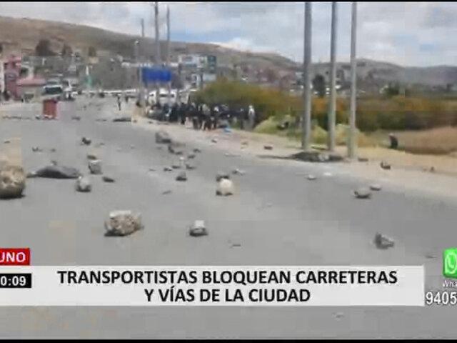 Paro de Transportistas se registró en Puno, Cusco y Arequipa