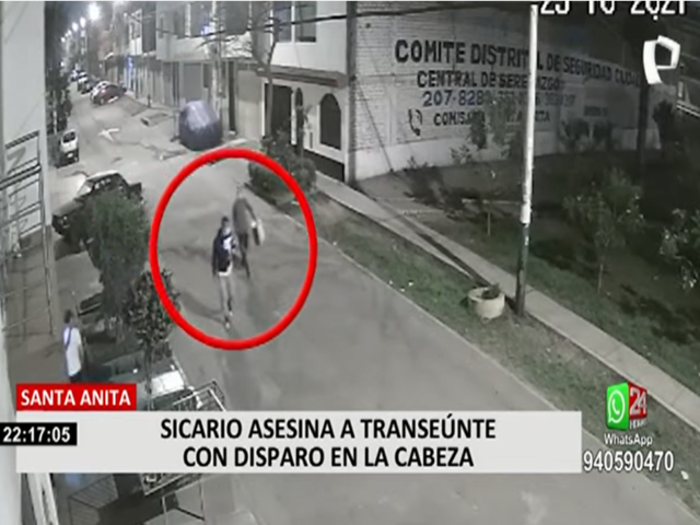 Santa Anita: sicario asesina a transeúnte con disparo en la cabeza