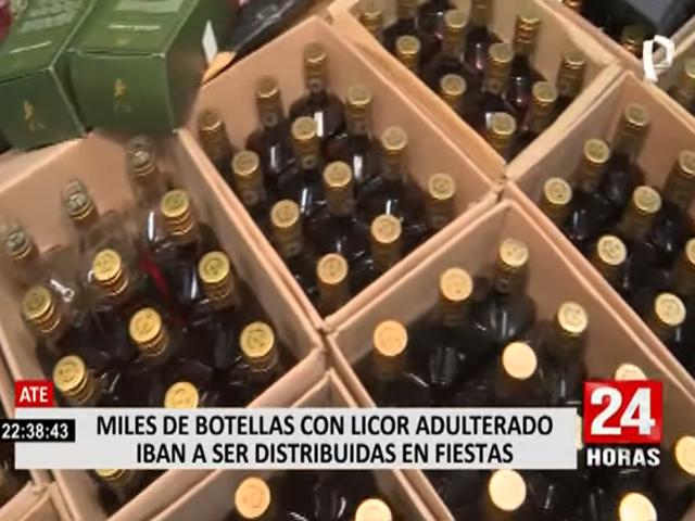 Ate: cae banda que adulteraba y comercializaba  bebidas alcohólicas como whiskys de diferentes etiquetas